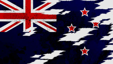 lacerate: New Zealand flag lacerate texture