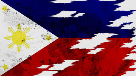 lacerate: Philippines flag lacerate texture