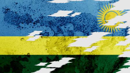 lacerate:  Rwanda flag lacerate texture