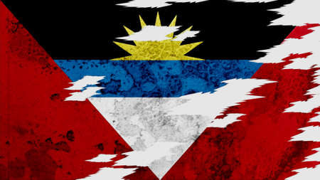 lacerate: antigua and barbuda Flag lacerate texture Stock Photo