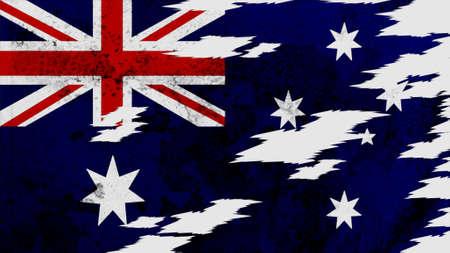 lacerate: australia Flag lacerate texture