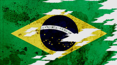 lacerate: brazil Flag lacerate texture Stock Photo
