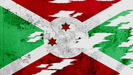lacerate: burundi Flag lacerate texture Stock Photo