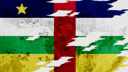 lacerate: central african republic Flag lacerate texture
