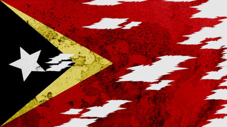 lacerate: east timor Flag lacerate texture Stock Photo