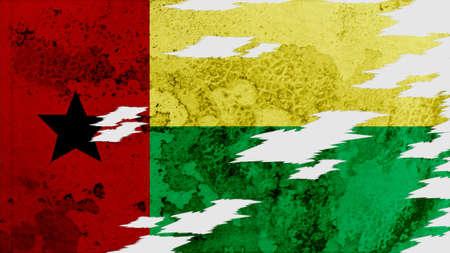 lacerate: guinea bissau Flag lacerate texture