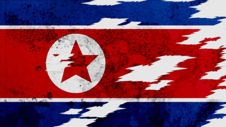 lacerate:  korea north Flag lacerate texture
