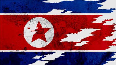 lacerate:  korea north Flag lacerate texture