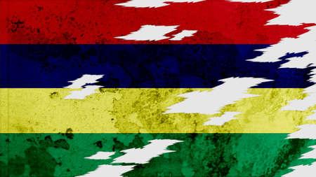 lacerate: mauritius Flag lacerate texture