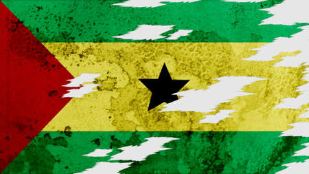 lacerate: sao tome and principe Flag lacerate texture