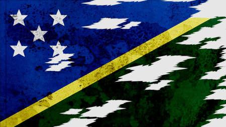 lacerate:  solomon islands Flag lacerate texture