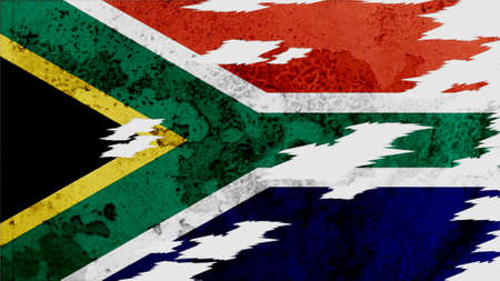 lacerate: south africa Flag lacerate texture