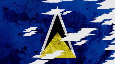 lacerate: st lucia Flag lacerate texture