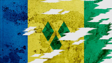 lacerate: st vincent & the grenadines Flag lacerate texture