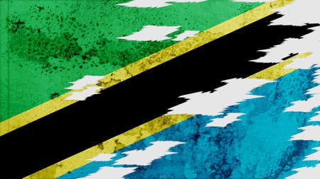 lacerate: tanzania Flag lacerate texture