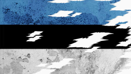 clime: estonia flag lacerate old texture with seam
