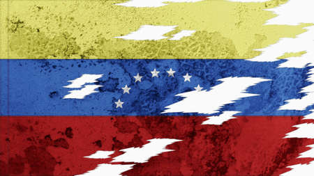 lacerate: venezuela flag lacerate old texture with seam
