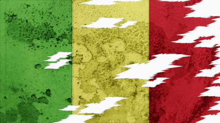 lacerate: mali flag lacerate old texture with seam