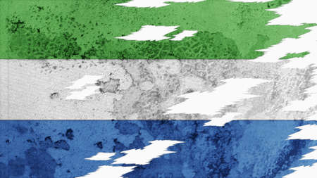 lacerate: sierra leone flag lacerate old texture with seam