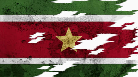 lacerate: suriname flag lacerate old texture with seam