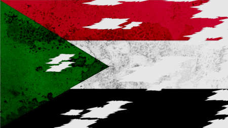 lacerate: sudan flag lacerate old texture with seam