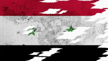 lacerate: syria flag lacerate old texture with seam