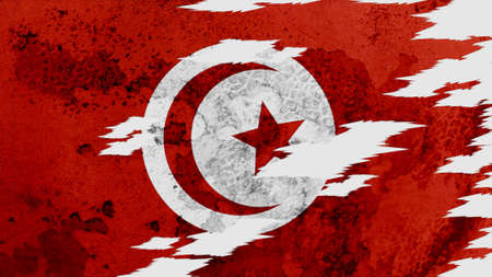 lacerate: tunisia flag lacerate old texture with seam