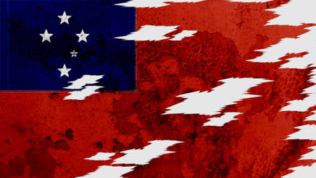 lacerate: samoa flag lacerate old texture with seam