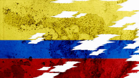 lacerate: colombia flag lacerate old texture with seam