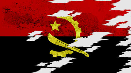 lacerate: Angola flag lacerate texture