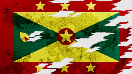 lacerate: Grenada flag lacerate texture