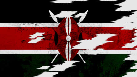 lacerate: Kenya flag lacerate texture