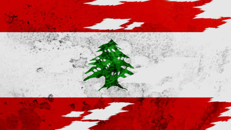 lacerate:  Lebanon flag lacerate texture