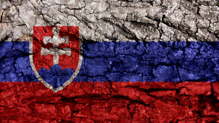 clime:  Slovakia Flag rough texture Stock Photo