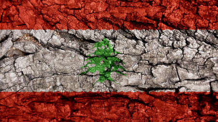 clime: Lebanon Flag rough texture