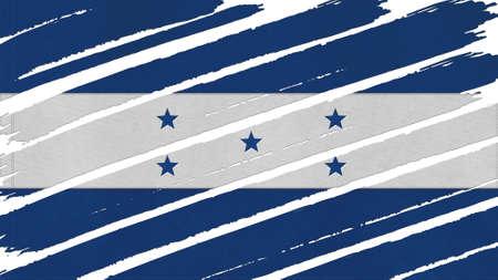 bandera honduras: Bandera Honduras textura te�ido Foto de archivo