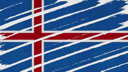 flag of iceland: Bandera islandia textura te�ido Foto de archivo