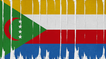 clime: comoros Flag vertical paint texture big size.