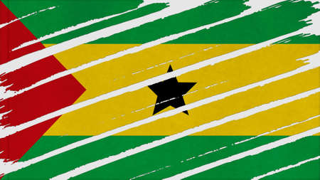 clime: sao tome and principe Flag tinted texture
