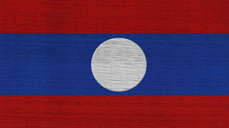 clime: laos  Flag Japanese mats texture Stock Photo