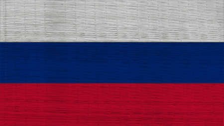 clime: russia Flag Japanese mats texture Stock Photo