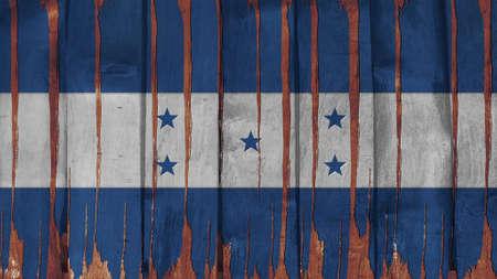 bandera honduras: Bandera Honduras te�ido vertical en la textura de la madera Foto de archivo