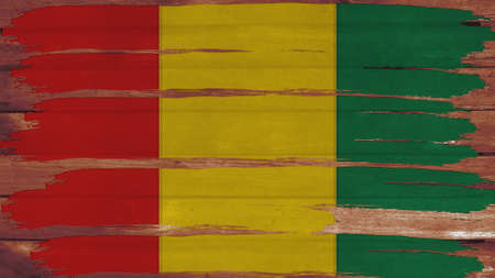 overlays: guinea Flag tinted horizontal on the wood texture