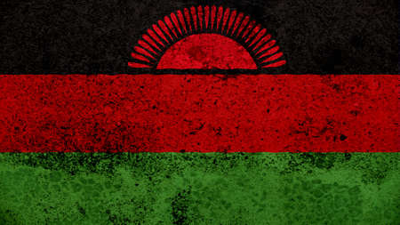 clime: Malawi Flag on the old wall texture