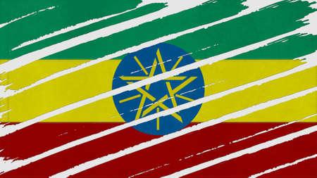 ethiopia flag: ethiopia Flag tinted texture Stock Photo