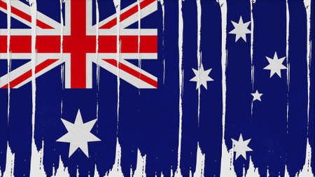 clime: australia Flag vertical paint texture big size.