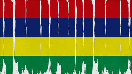 clime: mauritius Flag vertical paint texture big size.