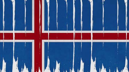 flag of iceland: Bandera islandia textura vertical de te�ido Foto de archivo