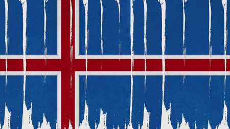 overlays: iceland Flag tinted vertical texture Stock Photo