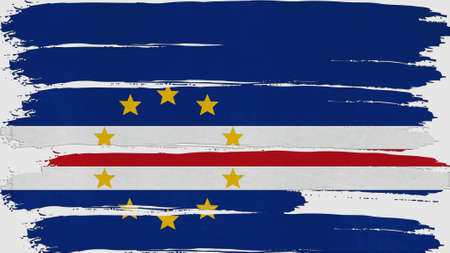 overlays: cape verde Flag tinted horizontal texture Stock Photo